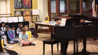 Victor Koncurat Playing at Highland Springs Retirement Home
