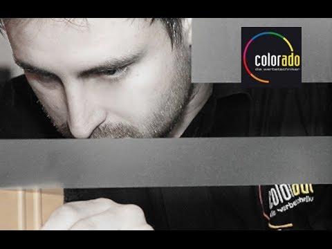 Schaufensterbeschriftung, Produktionsablauf - colorado application ag chur, die werbetechniker