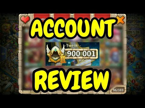 Account Review L 900K Might L Castle Clash