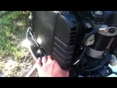 Honda 40hp 4 stroke outboard motor on