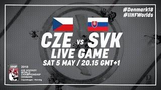Czech Republic - Slovakia   Full Game   2018 IIHF Ice Hockey World Championship