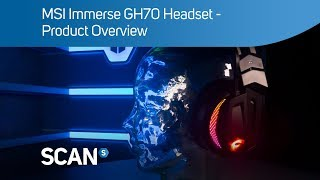 MSI Immerse GH70 gaming Headset - Overview