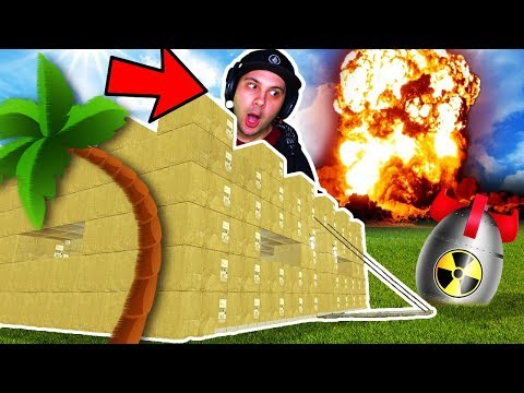 EPIC BOX FORT vs NUKE CHALLENGE! | Garrys Mod Cardboard Box Fort Gameplay (Gmod Multiplayer)
