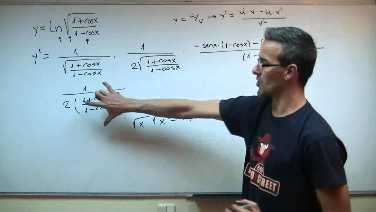 Derivada De Una Funcion 05 Regla De La Cadena Bachillerato Matematicas Youtube