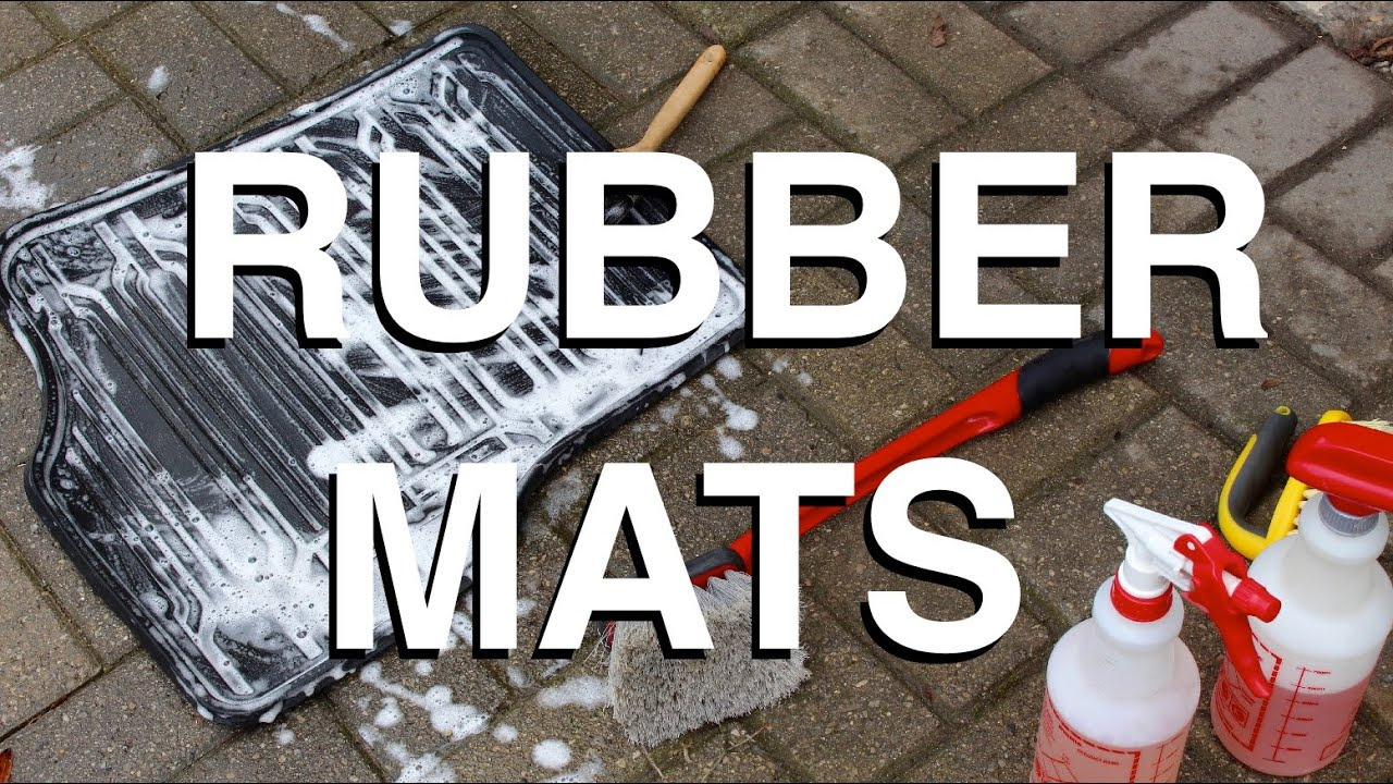 How To Clean Rubber Floor Mats YouTube - How to clean black rubber gym flooring