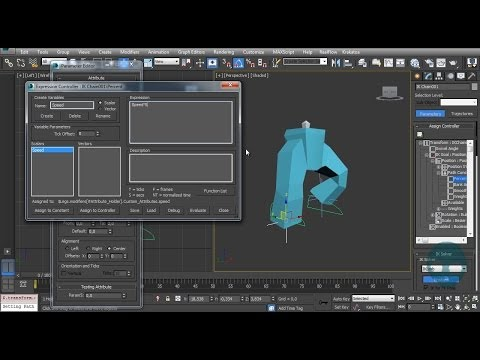 Procedural Legs Animation - Particle Flow Tutorial