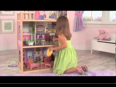 Maison de poup es en bois kidkraft 65092 kayla pour poup es mannequins sur bi - Maison poupee kidkraft ...