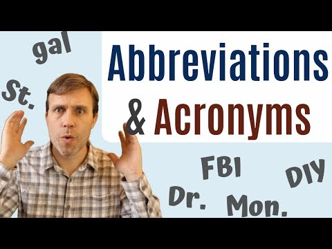 Abbreviations & Acronyms To Build Your Vocabulary