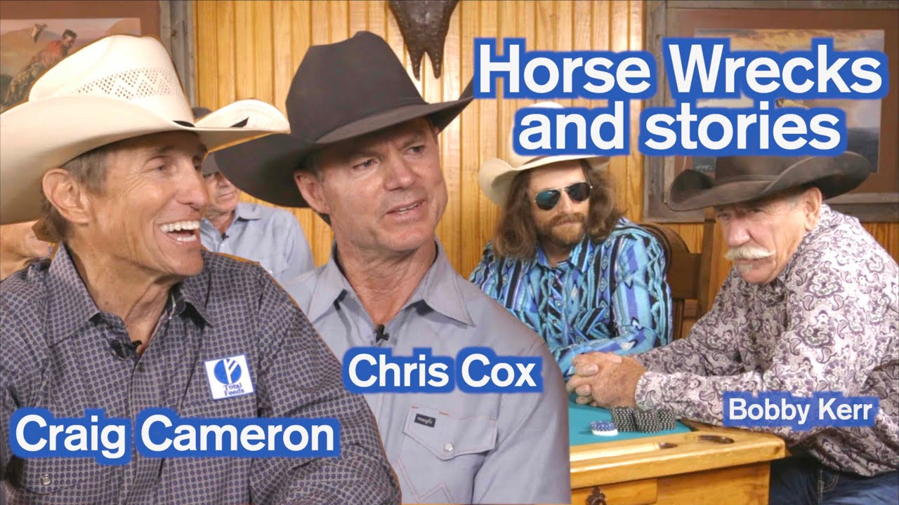 Craig Cameron, Chris Cox, Dale Brisby, and Bobby Kerr talk horse wrecks - Rodeo Time podcast 33