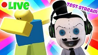 Playing some Roblox Games to test out the first steam back to YouTube. Type ! Command or !boints