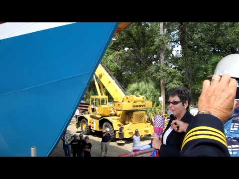 """Christening the """"343"""" at Eastern Shipyard"""