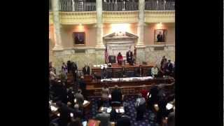 Delegate Aruna Miller reads opening prayer at the Maryland General Assembly 2/8/12