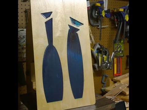 CNC Cut Mid Century Modern Epoxy Bottle Art!