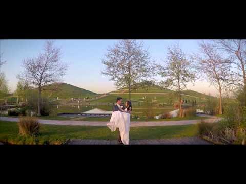 Aerial Drone Wedding Photoshoot - Northala Fields
