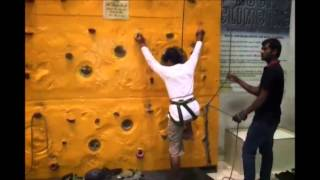 Rock climbing prasads iMax hyderabad