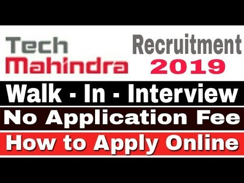 Jobs in Tech Mahindra II Tech Mahindra Recruitment 2019 II Private Job 2019 II Learn Technical