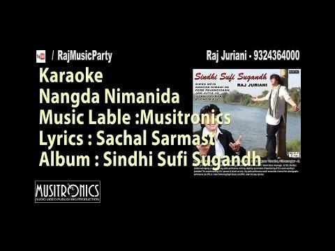 Sindhi karaoke track and lyrics |Nangda Nimani da  by Raj Juriani 188