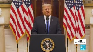 In farewell address, Trump urges prayers for next administration without mentioning Biden