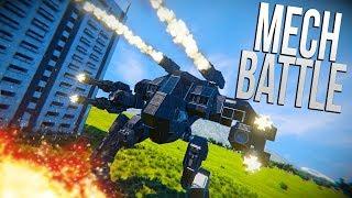 MASSIVE MECH EPIC BATTLE! - Space Engineers MEGA Battle!