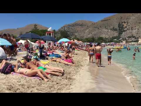 Palermo Mondello beach amazing water and good food Sicilia