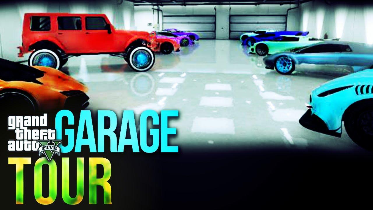 Gta 5 online garage tour best of top 5 customs paint for Garajes gta v online