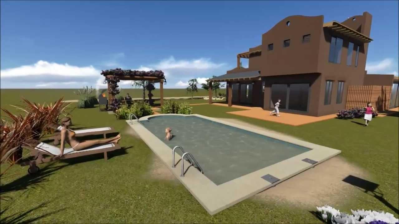 Vivienda santa fe style youtube for Casas de diseno santa fe