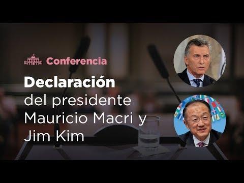 Declaración conjunta del presidente Mauricio Macri y Jim Kim