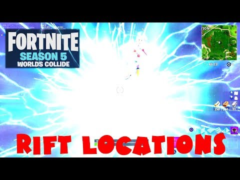 ALL Rift Portals Locations Guide - Fortnite Battle Royale Season 5 - Week 5