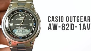 casio outgear aw 82d 1av black unboxing