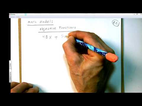 Basic Excel Business Analytics #57: Intro To Linear Programming using Algebra, Pencil & Paper