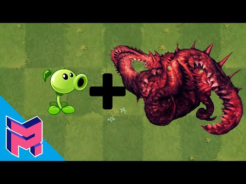 Plants vs Zombies Fusion Hack Animation ( Peashooter + Carrion ) |
