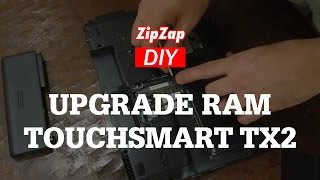 HP TouchSmart TX2 Laptop, How to Remove and Replace to Upgrade the RAM Memory