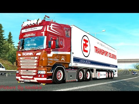 Euro Truck Simulator 2 # Scania Ronny Ceusters NightFlyer III R500 V8  (แต่งรถกันเถอะ # 25 )