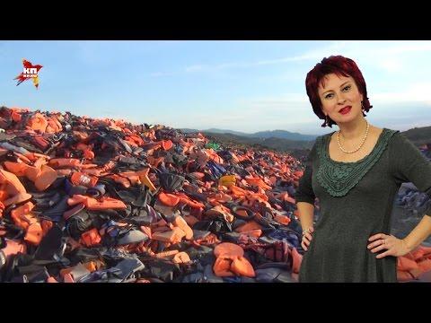 """Дарья Асламова побывала на """"кладбище"""" спасательных жилетов на острове Лесбос"""