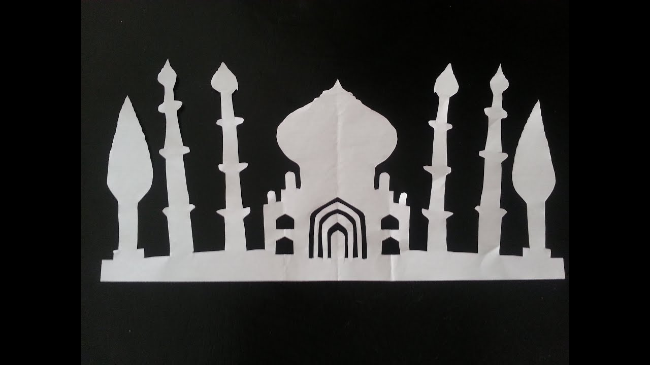How To Make Paper Taj Mahal  YouTube