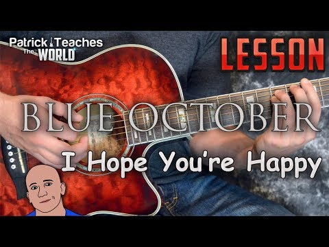 Blue October-I Hope You're Happy-Guitar Lesson-Tutorial-How To Play-Acoustic