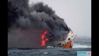 Incendie et naufrage du cargo