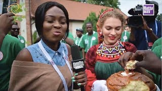 Nigerians try Russian Food for the first time