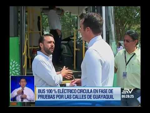 BUS 100% ELÉCTRICO CIRCULA EN GUAYAQUIL