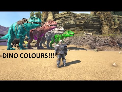 Ark How To Change Dinosaur Colors PS4/Xbox One (Ark Survival Evolved Tutorial)