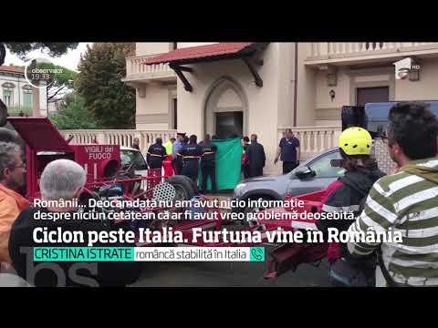 Ciclon peste Italia. Furtuna vine în România