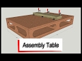 Assembly Table - How to Draw in Sketchup