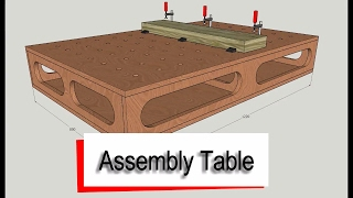 How to draw an Assembly Table / Torsion Box using Sketchup. Compact design for small workshops and all cut from a single 8