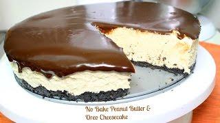 No Bake Peanut Butter Oreo Cheesecake