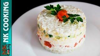 Слоёный Салат с Сёмгой ♥ Cалаты на Праздничный Стол ♥ Рецепты NK cooking