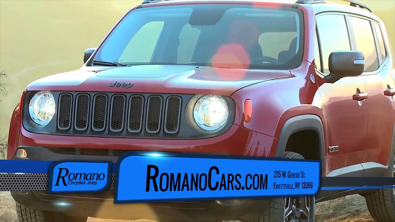 Jeep Renegade Syracuse, NY | Romano Chrysler Jeep Dealer - YouTube