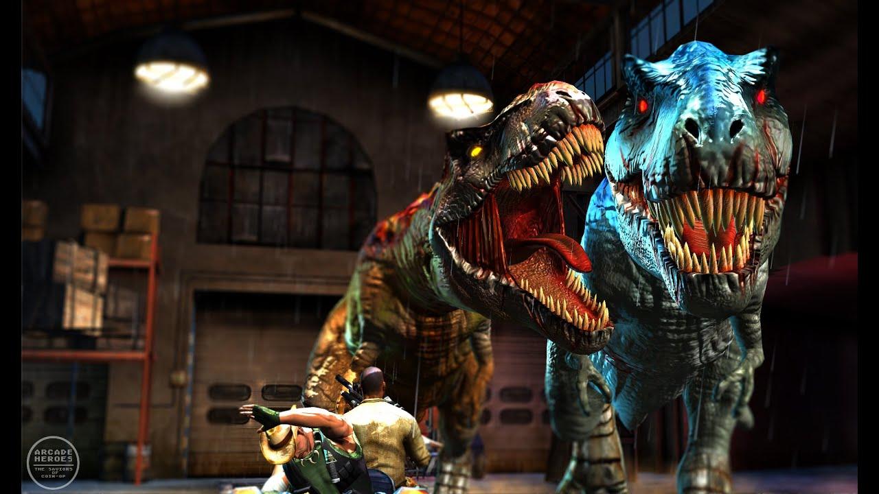 Jurassic Park Arcade 2015 T Rex Ending Uk Arcades Youtube