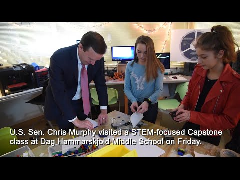 U.S. Sen. Chris Murphy visits Dag Hammarskjold Middle School