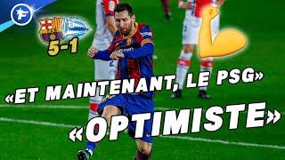 Lionel Messi et le Barça ont mis toute l'Espagne en confiance avant Barça-PSG | Revue de presse