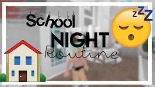 STUDENT's Night Routine! // Roblox, Bloxburg | gxldengloss